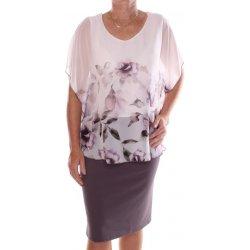 61ecf28527a9 Recenzie Dámske elastické spoločenské šaty so silonovým vrchom sivo ...