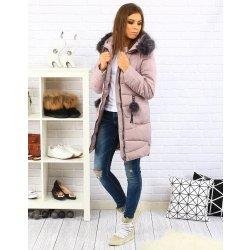 Dámská zimná prešívaná bunda s kapucňou prešívaný ružová ty0194 ... 1e0d2909673