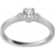 iZlato Design Zásnubný prsteň z bieleho zlata s diamantom Devera KU740A f7df81fd9dc