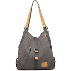 cff0839a17 Kono pevná látková dámska kabelka cez rameno sivá alternatívy ...