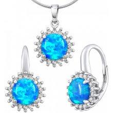 a8eff41dc Silvego strieborný set šperkov Raine s modrým syntetickým opálom LPS1418EB