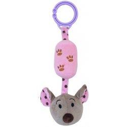 Baby Mix detská plyšová hračka s rolničkou myška ružová
