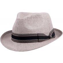 72a44a334 Slamený klobúk sivý Assante 80009
