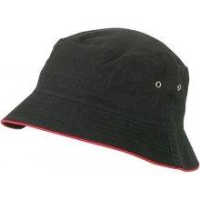 Bavlněný klobouk MB012 Černá / červená
