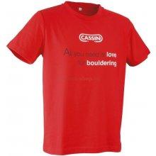 CASSIN T Shirt Boulder Red
