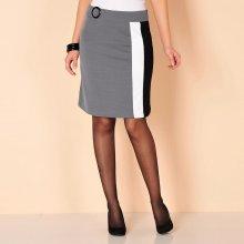 Blancheporte dámska sukňa s grafickým motívom čierna sivá