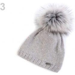 682f4507d Dámska zimná čiapka s brmbolcom Capu šedá holubia 1ks alternatívy ...