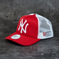 New Era 9Forty Trucker Clean T NY Scarlet White Cap alternatívy ... a3880a97b95f