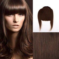 Svetový Tovar Clip in ofina - REMY 100% ľudské vlasy - 4 - hnedá - 4 ... 8789ead6c55