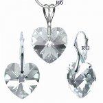 Set strieborný Black Diamond Swarovski Elements LSW037S