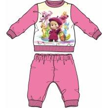 Disney by Arnetta Dievčenské pyžamo Máša a Medveď svetlo ružová