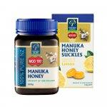 Manuka Health Manuka med MGO™ 250+ 500g a Medové cukríky s citrónovou príchuťou 100g