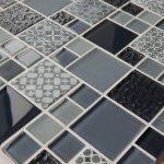 MOSAGRES MSS006 Mozaika sklo Multimix Vintage 300x300x6mm sivá