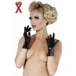 Krátke latexové rukavice čierne