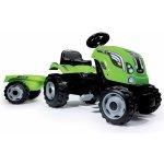 Smoby Detský šliapací traktor Farmer XL s prívesom svetlozelený 710111