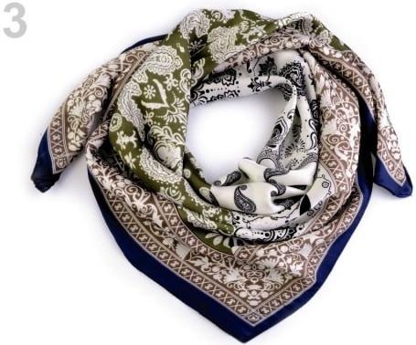Stoklasa Hedvábný šátek paisley ornamenty 70x70 cm 3 zelená alternatívy -  Heureka.sk 4b52ff34c4