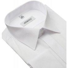 80be9dc2730a Venergi Biela spoločenská slim košeľa PR11200-301