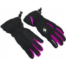 Blizzard-Rider junior ski gloves, black/pink