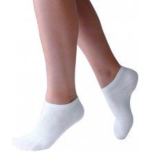 Kotníkové bambusové ponožky Bamboo biela