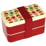 Bento Adult dětský svačinový box s příborem Mid Century Poppy