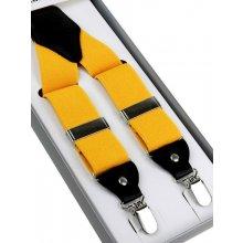 Traky športovo-elegantné žlté