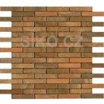 Premium Mosaic Stone Mozaika oranžové tehly 1,5x7,5 cm - STMOS1575ORW
