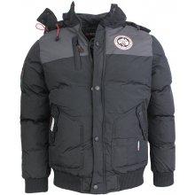 Geographical Norway bunda pánska VERTIGO zimná prešívaná s kapucňou tmavo  šedá VERTIGOTS 98d05b68df6
