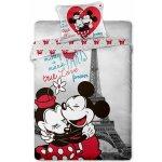 Jerry Fabrics obliečky Mickey a Minnie v Paříži bavlna 140x200 70x90