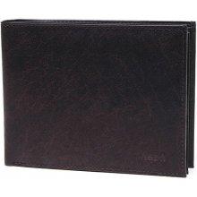 13432b1fa1da Lagen Pánska tmavo hnedá kožená peňaženka Dark Brown V 75