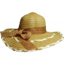 48e91d553 Jenifer SK-1429BWT Dámsky slamený klobúk s mašľou hnedý