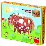 Dino kocky kubus domáce zvieratká drevo