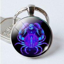 Prívesok na kľúče so znamením zverokruhu Znamenie zverokruhu Rak a4023fa5971