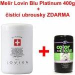 L´OVIEN Essential Blu Platinum bezprašný platinový melír sáček, náhradní náplň 400 g