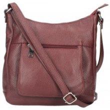 Made In Italy kožená kabelka na rameno 5083 bordová d4256e998d4