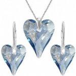 Swarovski set srdce CRAZY BLUE SHADE For You Set-srdcrazy-001