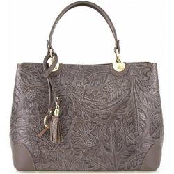 kožená kabelka do ruky tmavá šedohnedá od 87 09d43ad9a7d