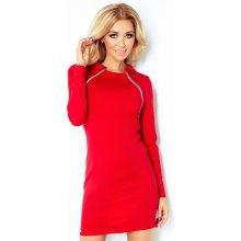 07465e2be9 Teplé červené šaty se zipy 130-2 červená
