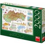 DINO Mapa Slovenské republiky 2000 dielov