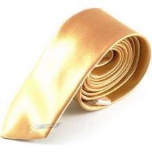 Kravata Slim zlatá