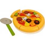 Bigjigs Toys Pizza krájacia drevená