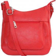 42c066a43dddc Talianske kožené kabelky dámske cez rameno stredné červené Zolana