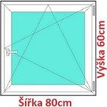 Soft Plastové okno 80x60 cm, otváravé a sklopné