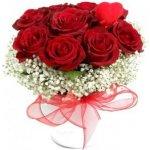 Ruže v červenom šate - v keramike