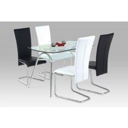 a5411aaeb708 Autronic Jedálenský stôl A2022 CR + 4 jedálenské stoličky DCL-173 ...