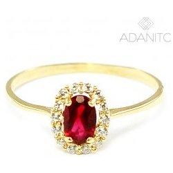 665508cbf Adanito BRR0172G Zlatý prsteň s červeným kameňom od 92,80 € - Heureka.sk