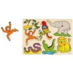 Goki drevené puzzle so zvukmi zvieratka zo ZOO