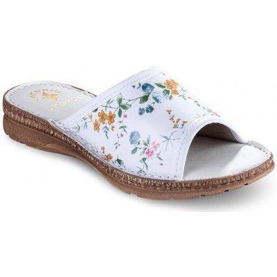 Dámske zdravotné papuče s kvetinami