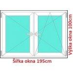 Soft Dvojkrídlové plastové okno 195x100 cm, O+OS