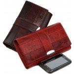Mercucio Dámska kožená peňaženka 2312838 červená mramorovaná