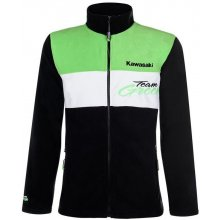 KAWASAKI mikina na zips TEAM GREEN black   white   green b43d045846a